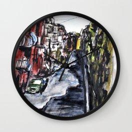 Naples City Street Wall Clock