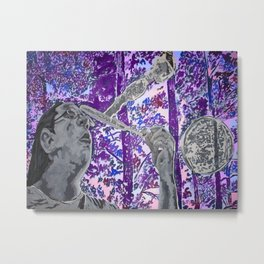 Playful (Blowing bubbles) Metal Print