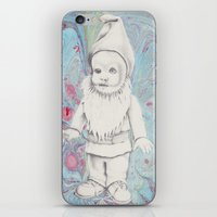 gnome iPhone & iPod Skins featuring Garden Gnome by Jake Kavanagh