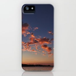 Puffy, pink Puget Sound sunset iPhone Case