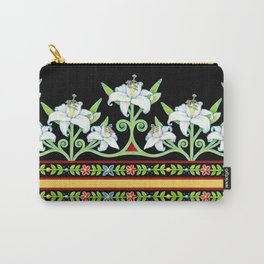 Elizabethan Lily Folkloric Stripe Carry-All Pouch