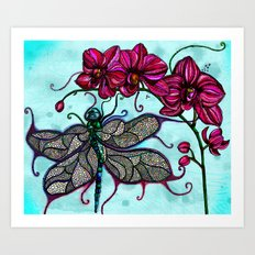 Dragonfly Ball Art Print