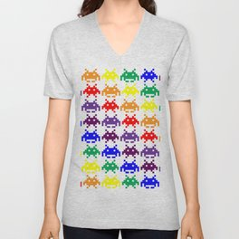 Rainbow Invasion Unisex V-Neck