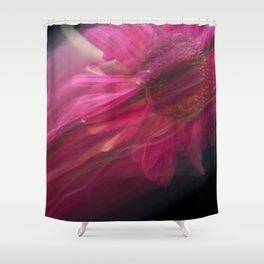 Abstract Pink Gerbera Daisy-Fleur Blur Series Shower Curtain