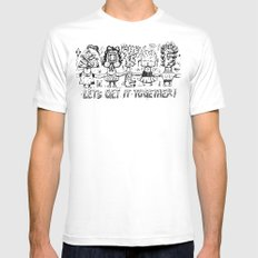 Let's get it together MEDIUM White Mens Fitted Tee