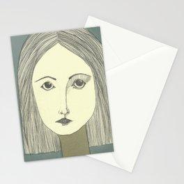 grey portrait Stationery Cards