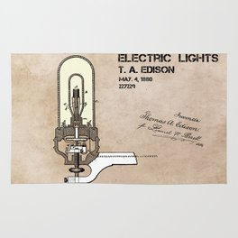 Edison electric light patent Rug