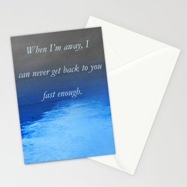 Catalina Jet At 43 Knots. Poem: Fast Enough Stationery Cards