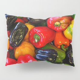Colorful Bell Peppers Pillow Sham