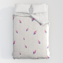 Pink and Blue Crystal Pattern Comforters