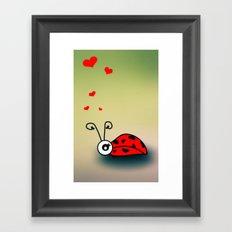 Ladybug Love Framed Art Print