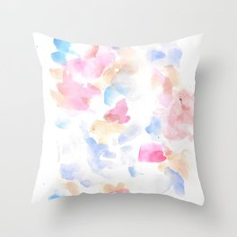 170322 Soft Pastel Watercolour 14 |Modern Watercolor Art | Abstract Watercolors Throw Pillow
