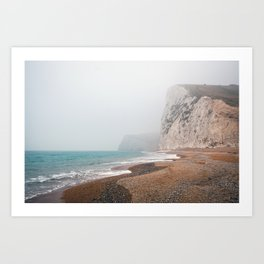 Dreary Beach Art Print