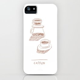 coffee hand-drip time iPhone Case