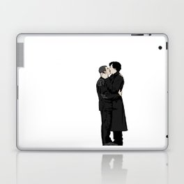 Kissing Sherlock and John Laptop & iPad Skin