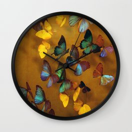 Butterflies Released Wall Clock