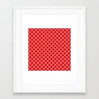 polka dot Framed Art Prints featuring Polka dot by David Zydd