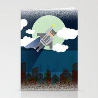 bat man Stationery Cards featuring Bat Man by voskovski