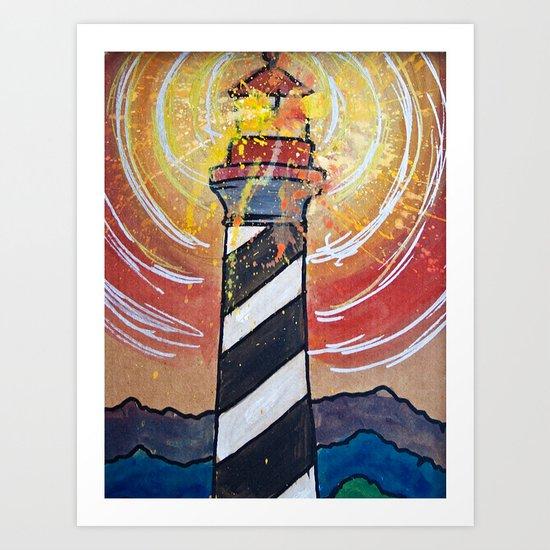 Lighthouse Funk 1 Art Print