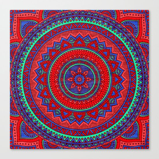 Hippie mandala 60 Canvas Print