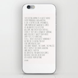 The Guest House #poem #inspirational iPhone Skin