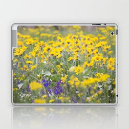 Meadow Gold - Wildflowers in a Mountain Meadow Laptop & iPad Skin