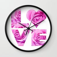 all you need is love Wall Clocks featuring Love is all you need by LebensART