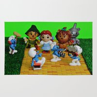 oz Area & Throw Rugs featuring Smurfs Reboot Oz by Beastie Toyz