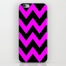 Black & Pink Chevron Lines  iPhone & iPod Skin