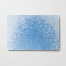 Melting frost and water condensation Metal Print