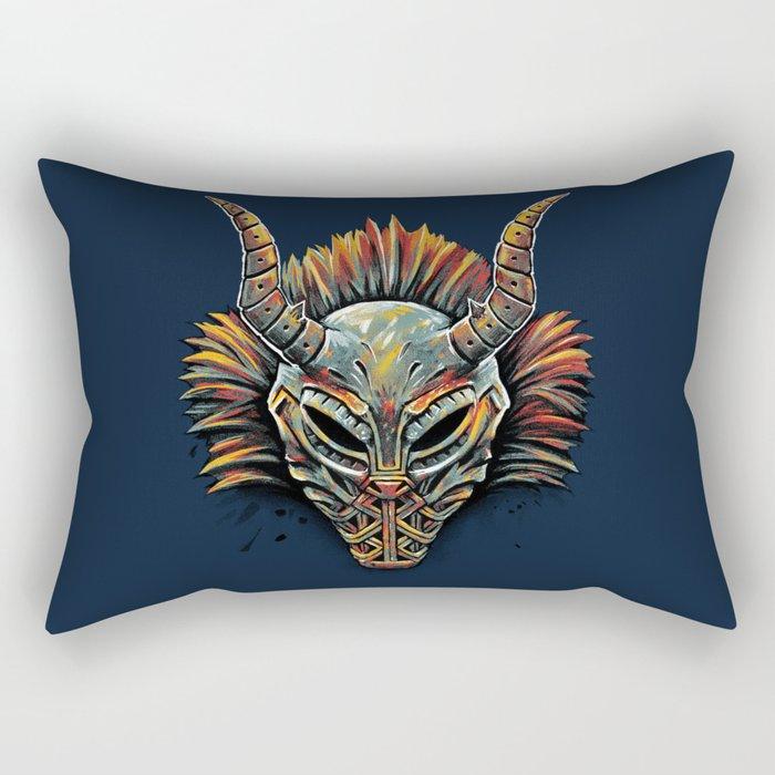 Killmonger Tribal Mask Rectangular Pillow