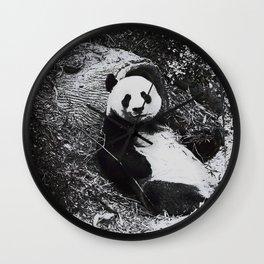 Urban Pop Art Panda Wall Clock
