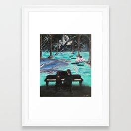 Enjoyment in Mutual Content Framed Art Print
