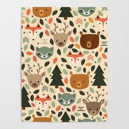 Woodland Creatures Poster