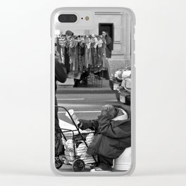 Give Me Your Poor & Tired (Pt 1 - NYC) Clear iPhone Case