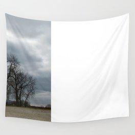 Steam Clouds Treeline Wall Tapestry