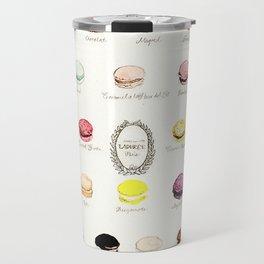 laduree macaron menu Travel Mug