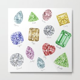Gems pattern Metal Print