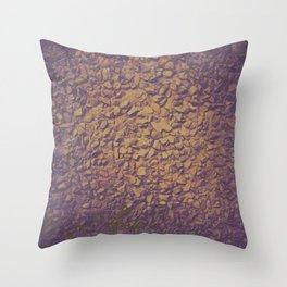 Graphic design or manipulated photography of rough wall texture with gradient colors Throw Pillow