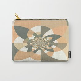 Beige Peach Kaleidoscope Carry-All Pouch