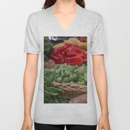 Brussel Sprouts and other Fresh Veggies Unisex V-Neck