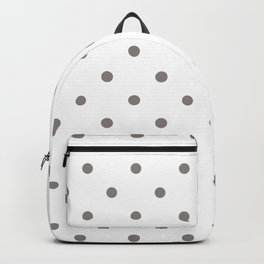 Polka Dots Pattern: Neutral Brown Backpack