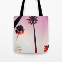 palm tree Tote Bags featuring Palm tree by Emma.B