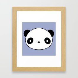 Kawaii And Cute Panda Framed Art Print