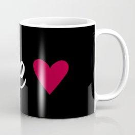 Love Heart - Black Coffee Mug