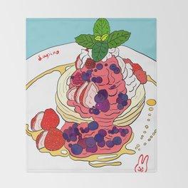 Very Berry Pancakes Throw Blanket
