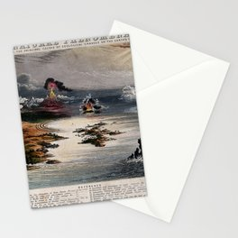 Diagram of Natural Phenomena, and principal causes of geological changes on the Earth's surface Stationery Cards
