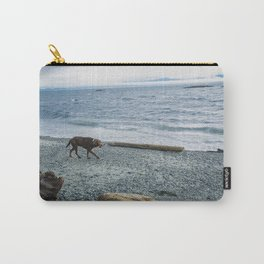 Pup on a beach Carry-All Pouch