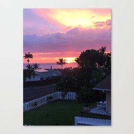 Sun Setting 3 Canvas Print