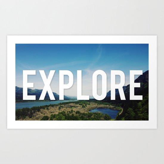 Explore Panorama Art Print